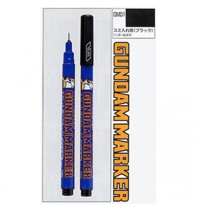 Delineador fino negro GM01 gundam markers paneleo