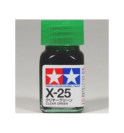 X-25 Clear Green Enamel Tamiya