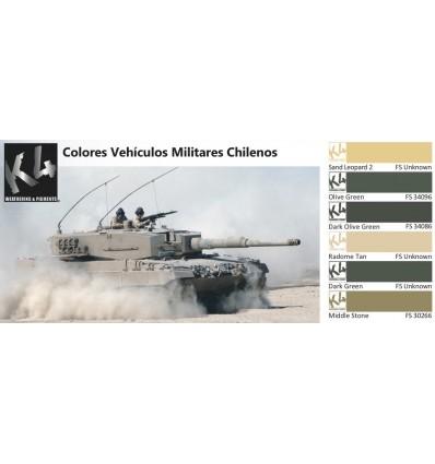 Colores Vehículos Militares Chilenos K4 (6 colores)