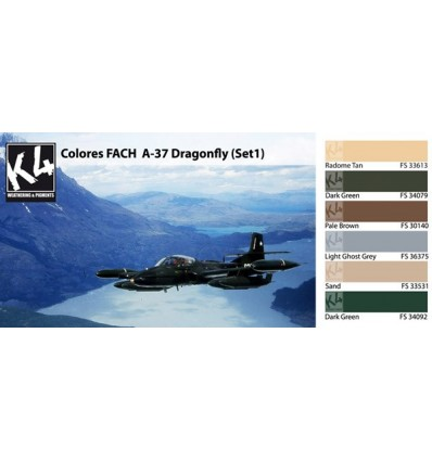 Colores FACH A-37 Dragonfly Set 1 K4 (6 colores)