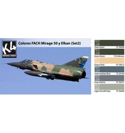 Colores FACH Mirage 50 y Elkan Set 2 K4 (6 colores)