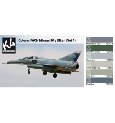Colores FACH Mirage 50 y Elkan Set 1 K4 (6 colores)