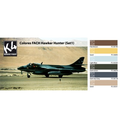 Colores FACH Hawker Hunter Set 1 K4 (6 colores)