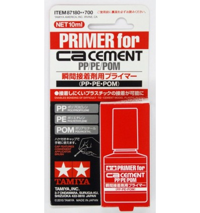 CA Cement Primer for PP PE POM Tamiya