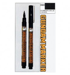 Gundam Marker Delineador Pincel Pluma Negro GM20 CSI Creos
