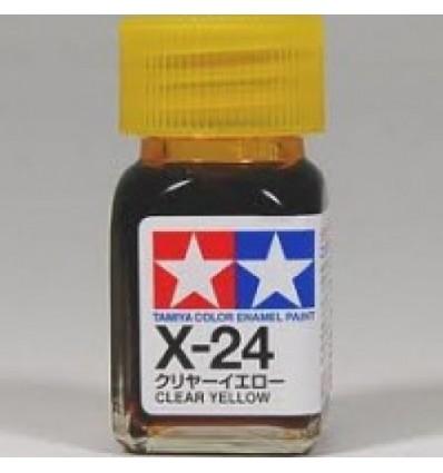 X-24 Clear Yellow Enamel Tamiya
