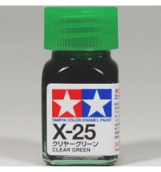 X-25 Clear Green Enamel Tamiya