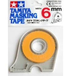 Masking Tape 6mm con dispensador Tamiya