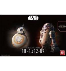 R2-D2 & R5-D4 Star Wars 1/72 Bandai