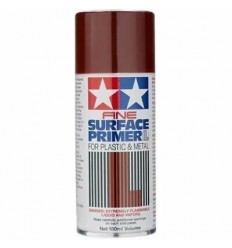 Fine Surface Primer L Oxide Red 180ml Tamiya