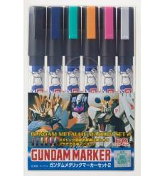 Gundam Marker Set Metalizados