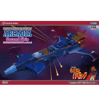 Space Pirate Battleship Arcadia Attack Type Hasegawa